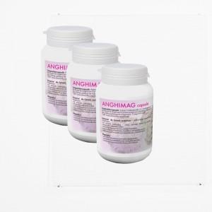 ANGHIMAG 250 mg, supliment alimentar pentru eliminarea ureei si a substantelor azotate toxice, Pachet 3 bucati, Farmacom, 150 capsule