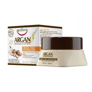 ARGAN Crema de Față Anti-rid cu Acid Hialuronic, Fitocomplex din Soia și Ulei de Măceșe