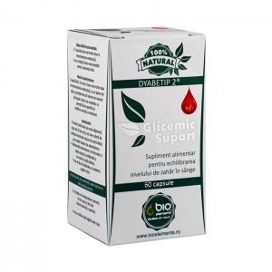 Glicemic Suport, Supliment alimentar pentru reglarea nivelului de zahăr în sânge, BioElemente, 60 Capsule