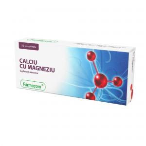 CALCIU și MAGNEZIU, supliment alimentar pentru efectele neplacute ale excesului de aciditate gastrica, Farmacom, 30 capsule