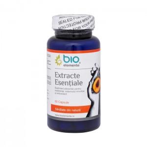 EXTRACTE ESENȚIALE, supliment antitumoral, antioxidant, regenerant, 60 Capsule