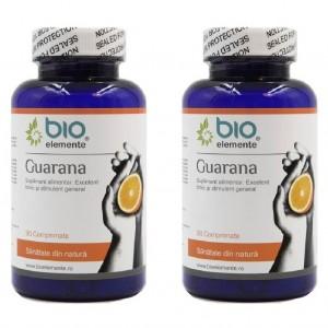 GUARANA, Pachet 2 bucăți, Supliment alimentar pentru oboseala cronică și plus de energie, 90 Comprimate