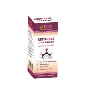 KETO - TEST 100 benzi de testare rapidă a corpilor cetonici din urină (cetonurie)