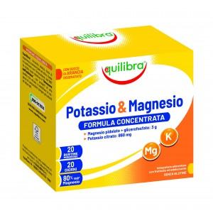 POTASIU & MAGNEZIU, EQUILIBRA, Supliment alimentar pentru echilibrul electrolitic, 20 Plicuri