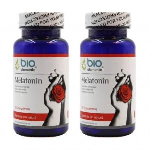 Melatonina, Pachet 2 bucăți, Supliment alimentar pentru insomnie, imunitate, bună dispoziţie și stare de bine, antitumoral, 50 Comprimate