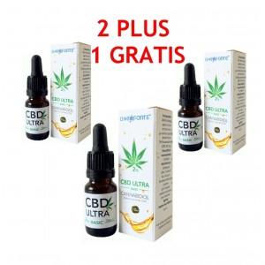 Oncoforte CBD ULTRA Basic 2%, Ulei de Cânepă cu cannabidiol 2%, Pachet Promoțional