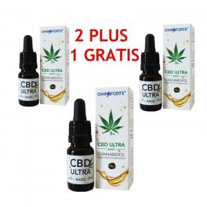 Oncoforte CBD ULTRA Basic 3%, Ulei de Cânepă cu cannabidiol 3%, Pachet Promoţional