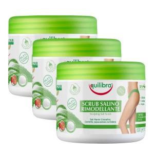 SCRUB SALINO - Exfoliant pentru corp, Pachet 3 bucăți, EQUILIBRA