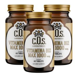 Vitamina B12 1000mcg 180 Tablete Pachet 3 Flacoane