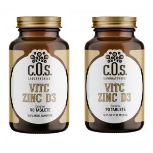 VITAMINA C ZINC D3 180 Tablete Pachet 2 Flacoane