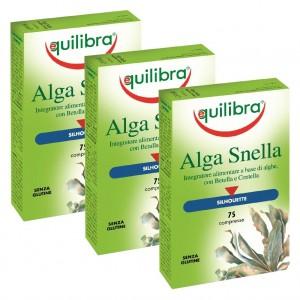ALGA  SNELLA, Pachet 3 bucăți, Supliment natural pentru slăbire cu alge brune , EQUILIBRA, 75 Comprimate