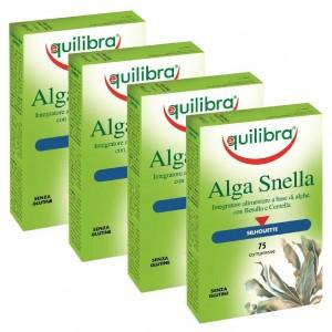 ALGA  SNELLA, Pachet 4 bucăți, Supliment natural pentru slăbire cu alge brune , EQUILIBRA, 75 Comprimate