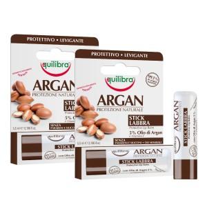 ARGAN Balsam pentru buze, Pachet 2 tuburi, EQUILIBRA, Protectiv, Calmant, Flacon 5,5 ml