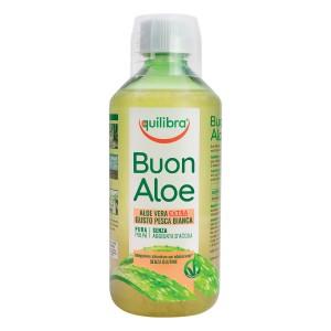 BUONALOE EXTRA - cu gust de Piersică, EQUILIBRA, Supliment alimentar pentru revitalizarea şi regenerarea întregului organism, 500 ml