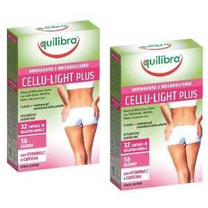 CELLU -  LIGHT PLUS, Pachet 2 bucăți, Supliment anticelulitic, EQUILIBRA, 40 Capsule