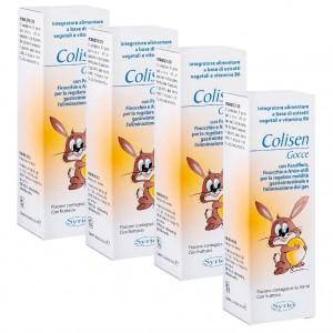 COLISEN, Pachet 4 bucăți, Picături pentru colici intestinale, SYRIO, 30 ml