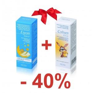 ESYON+COLISEN, pachet pentru somn linistit si impotriva colicilor intestinale la nou-nascuti