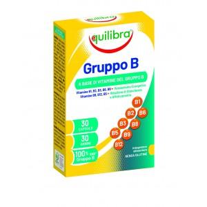 VITAMINA B COMPLEX, EQUILIBRA, Supliment alimentar cu vitamine din complexul B, 30 Capsule