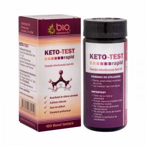 KETO - TEST, 100 benzi de testare rapidă a corpilor cetonici din urină (cetonurie)