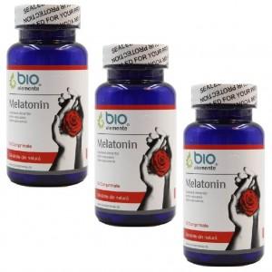 Melatonina, Pachet 3 bucăți, Supliment alimentar pentru insomnie, imunitate, bună dispoziţie și stare de bine, antitumoral, 50 Comprimate