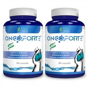 ONCOFORTE - pachet 2 bucăți, Supliment alimentar recomandat împotriva afectiunilor tumorale, 120 Capsule