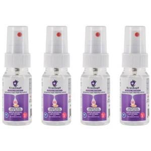 Dezinfectant pentru mâini, KronSept - Clean Protect, Pachet 4 Flacoane Spray 50 ml