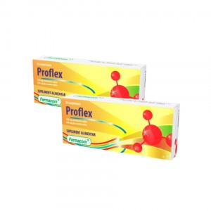 PROFLEX, supliment alimentar pentru mentinerea flexibilitatii articulatiilor, Pachet 2 bucati, Farmacom, 60 capsule