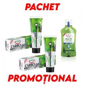 2 x CARBOgel pentru albirea dinților și purificare + ALOE Apă de gură 250ml GRATUIT