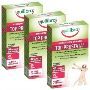 TOP  PROSTATA, Pachet 3 bucăți, Supliment alimentar pentru susținerea funcționării optime a prostatei, EQUILIBRA, 40 Capsule