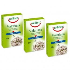 VALERIANA - Pentru tulburări de somn, relaxare și somn ușor, Pachet 3 bucăți, EQUILIBRA, 30 capsule