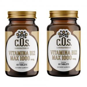 Vitamina B12 1000mcg 120 Tablete Pachet 2 Flacoane