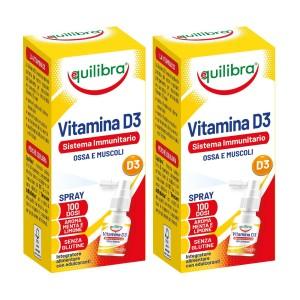 VITAMINA D3 Spray, Pachet 2 bucăți, EQUILIBRA, 13 ml
